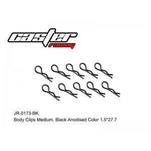 JR-0173-BK Body Clips Medium,Black Anodised Color 1.5*27.7