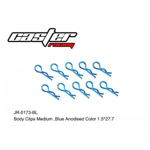JR-0173-BL  Body Clips Medium,Blue Anodised Color