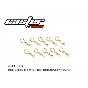 JR-0173-GD Body Clips Medium Golden Anodised Color 1.5*27.7