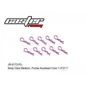 JR-0173-PU Body Clips Medium Purple Anodised Color 1.5*27.7