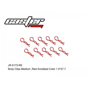 JR-0173-RE Body Clips Medium,Red Anodised Color