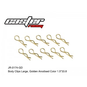 JR-0174-GD Body Clips Large,Golden Anodised Color