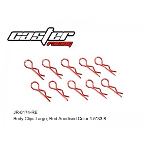 JR-0174-RE Body Clips Large,Red Anodised Color