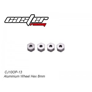 CJ10OP-13  Aluminium Wheel Hex 8mm
