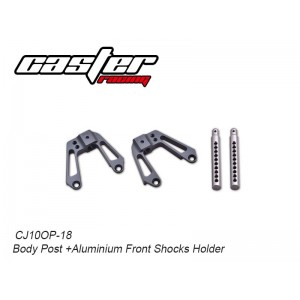 CJ10OP-18  Body Post +Aluminium Front Shocks Holder