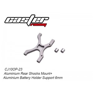 CJ10OP-23  Aluminium Rear Shocks Mount+Aluminium Battery Holder Support 6mm