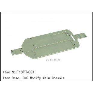 F18PT-001  CNC Modify Main Chassis