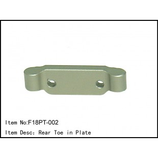 F18PT-002  Rear Toe in Plate