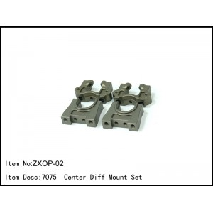 ZXOP-02  7075  Center Diff Mount Set