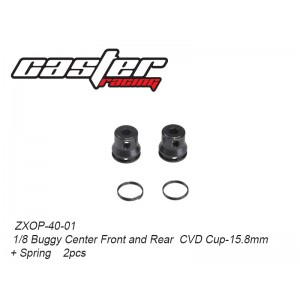 ZXOP-40-01 1/8 Buggy Center Front and Rear  CVD Cup-15.8mm+ Spring    2pcs