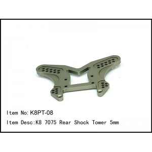 K8PT-08  K8 7075 Rear Shock Tower 5mm
