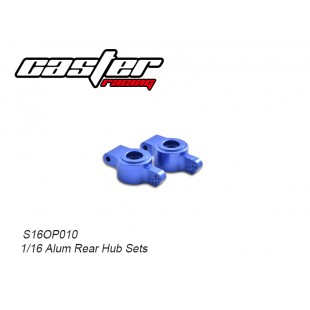 S16OP010 1/16 Alum Rear Hub Sets