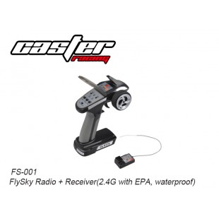 FS-001 FlySky Radio + Receiver (2.4G with EPA, waterproof)