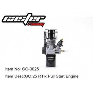 GO-0025  GO .25 RTR Pull Start Engine  ( w/o glow plug)