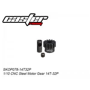 SKOP078-14T32P  1/10 CNC Steel Motor Gear 14T-32P