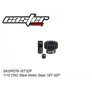 SKOP078-16T32P  1/10 CNC Steel Motor Gear 16T-32P