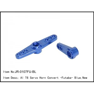 JR-0107FU-BL  Al T6 Servo Horn Convert -Futaba - Blue,New
