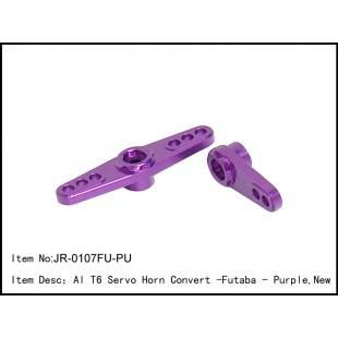 JR-0107FU-PU  Al T6 Servo Horn Convert -Futaba - Purple,New