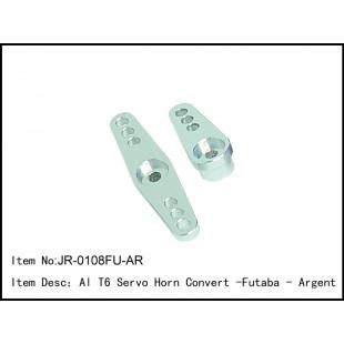 JR-0108FU-AR  Al T6 Servo Horn Convert -Futaba - Argent