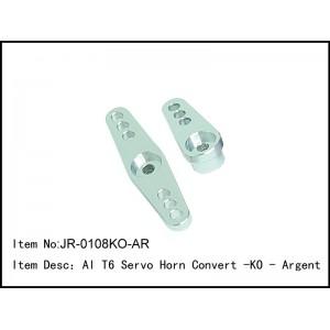 JR-0108KO-AR  Al T6 Servo Horn Convert -KO - Argent