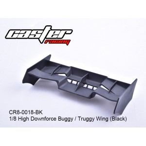 CR8-0018-BK 1/8 High Downforce Buggy / Truggy Wing (Black)