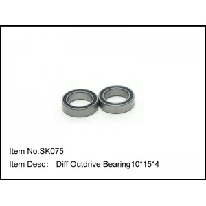 SK075    Diff Outdrive Bearing10*15*4
