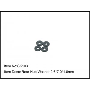 SK103  Rear Hub Washer 2.6*7.0*1.0mm