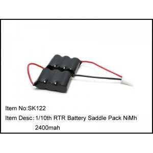SK122  1/10th RTR Battery Saddle Pack NiMh 2400mah
