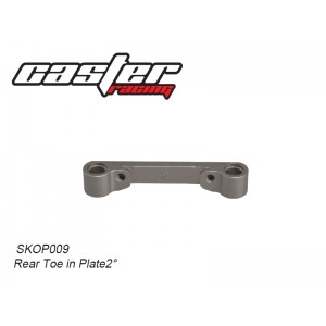 SKOP009 Rear Toe in Plate2°