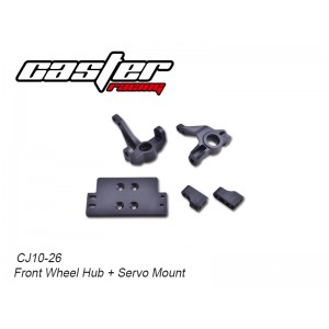 CJ10-26  CJ10 Front Wheel Hub + Servo Mount