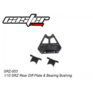 SRZ-003 Rear Diff Plate & Bearing Bushing