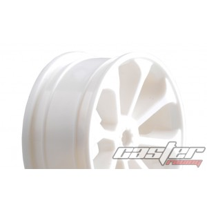 SRZ-038   1/10 Touring F/R Rim,8 Spoke ,White