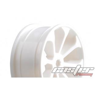 SRZ-038   1/10 Touring F/R Rim,8 Spoke ,White