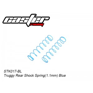 STK017-BL     Truggy Rear Shock Spring(1.1mm) Blue