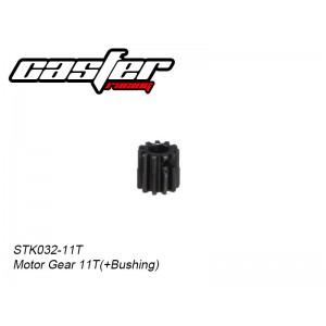 STK032-11   Motor Gear 11T,32P  (+Bushing)(Pro-Steel)