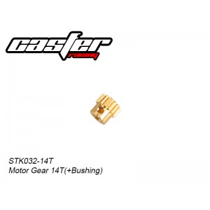 STK032-14T     Motor Gear 14T(+Bushing)(RTR-Copper)