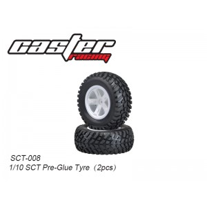 SCT-008  1/10 SCT Pre-Glue Tyre(2pcs)