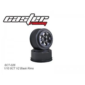 SCT-026  1/10 SCT V2 Black Rims