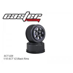 SCT-026  1/10 SCT V2 Black Rims