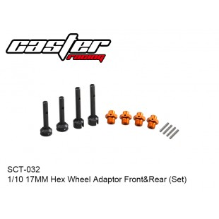 SCT-032  1/10  Hex Wheel Adaptor Front&Rear (Set) 17mm