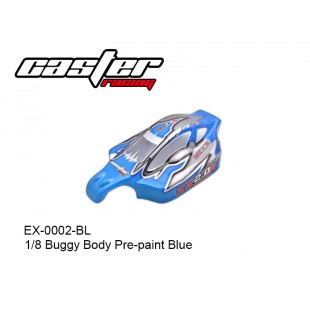 EX-0002-BL  1/8 Buggy Body Pre-paint Blue