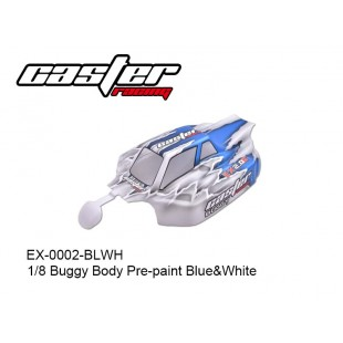 EX-0002-BLWH 1/8 Buggy Body Pre-paint Blue&White