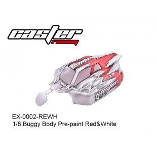 EX-0002-REWH 1/8 Buggy Body Pre-paint Red&White