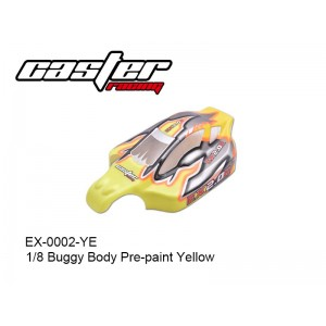 EX-0002-YE  1/8 Buggy Body Pre-paint Yellow