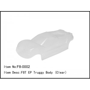 F8-0002  F8T EP Truggy Body (Clear)