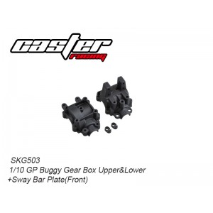 SKG503  1/10 GP Buggy Gear Box Upper & Lower+Sway Bar Plate (Front)