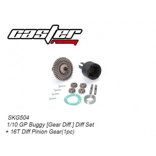 SKG504  1/10 GP Buggy Diff Set+16T Diff Pinion Gear(1pc)