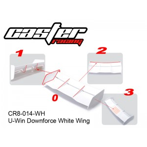 CR8-0014-WH  U-Win Downforce White Wing