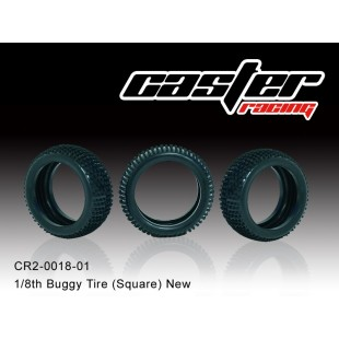 CR2-0018-01  1/8 Buggy Tire (Square) New