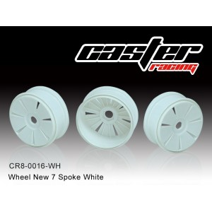 CR8-0016-WH  Wheel New 7 Spoke White